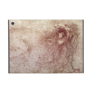 Bosquejo de un león del rugido (tiza roja en el pa iPad mini fundas