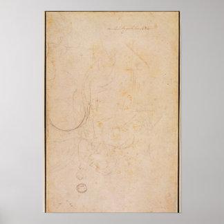 Bosquejo de una figura con la firma del artista impresiones
