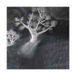Bosquejo del árbol impresiones en lienzo estiradas