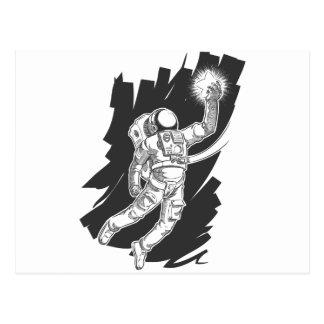 Bosquejo del astronauta o del astronauta que ase u postales