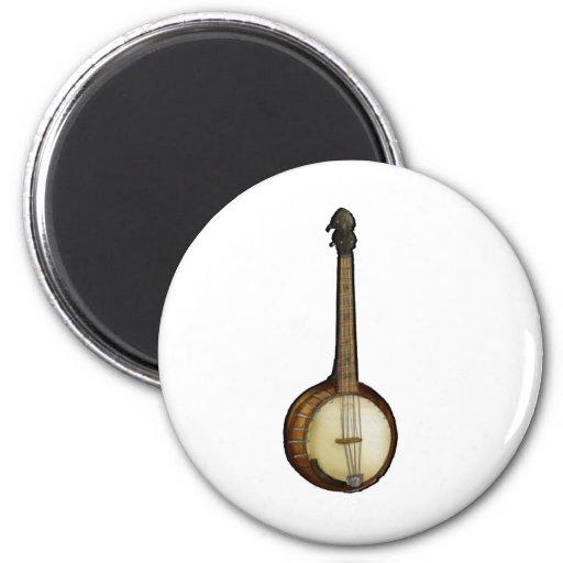 Bosquejo del banjo iman para frigorífico