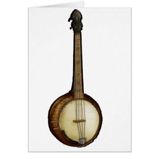 Bosquejo del banjo tarjeta de felicitación