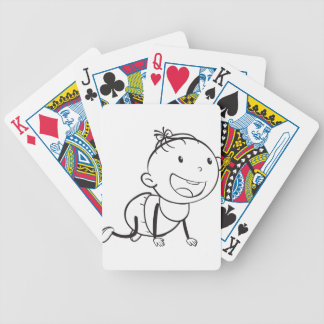 bosquejo del bebé baraja de cartas