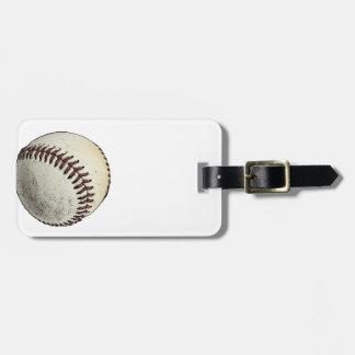 Bosquejo del béisbol etiqueta para equipaje