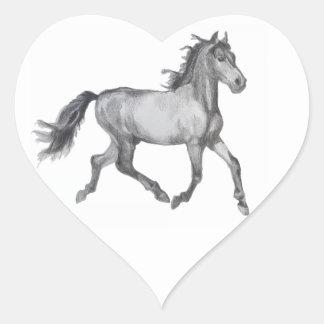 Bosquejo del caballo blanco y negro