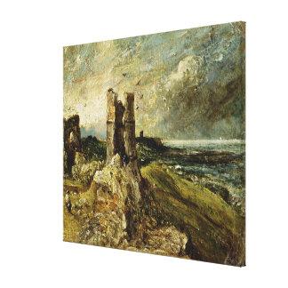 Bosquejo del castillo de Hadleigh (recto) (aceite  Impresiones En Lienzo Estiradas