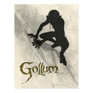 Bosquejo del concepto de Gollum Tarjetas Postales