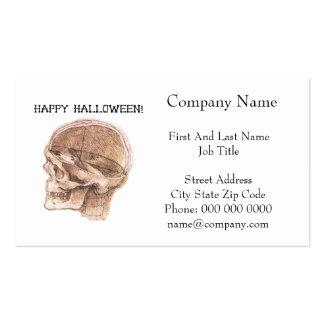 Bosquejo del cráneo de Halloween da Vinci Tarjeta De Visita