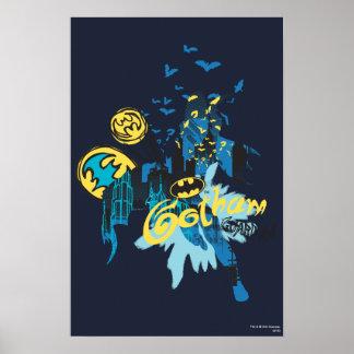 Bosquejo del cuaderno del guarda de Batman Gotham Poster