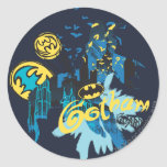 Bosquejo del cuaderno del guarda de Batman Gotham Pegatina Redonda