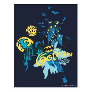 Bosquejo del cuaderno del guarda de Batman Gotham Postales