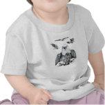 Bosquejo del dibujo de lápiz del collage de Eagle Camiseta