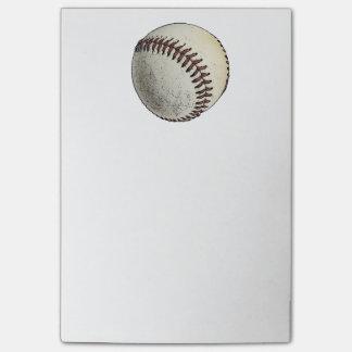 Bosquejo del dibujo del deporte del béisbol post-it notas