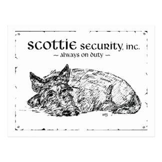 ¿Bosquejo del escocés - seguridad? Tarjetas Postales