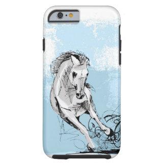 Bosquejo del funcionamiento del caballo blanco funda para iPhone 6 tough