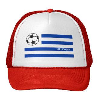 Bosquejo del fútbol, bandera de Uruguay Gorros Bordados