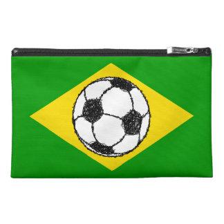 Bosquejo del fútbol de la bandera el   del Brasil