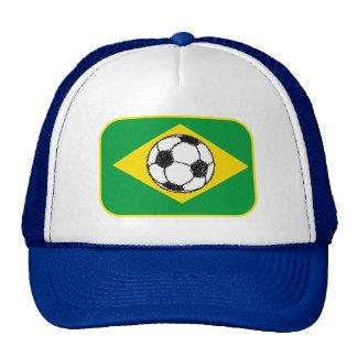 Bosquejo del fútbol de la bandera el | del Brasil Gorro De Camionero