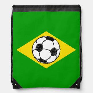 Bosquejo del fútbol de la bandera el | del Brasil Mochilas