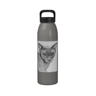 Bosquejo del gato de Sphynx Botella De Agua Reutilizable