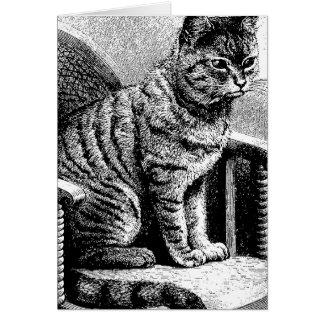 bosquejo del gato tarjeta de felicitación