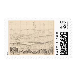 Bosquejo del horizonte del pico de Tallac, caloría Franqueo