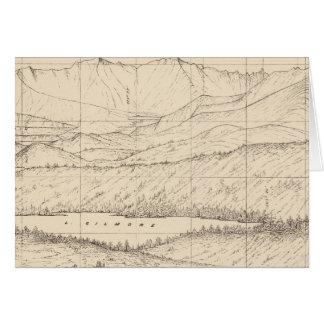 Bosquejo del horizonte del pico de Tallac, caloría Tarjeta De Felicitación