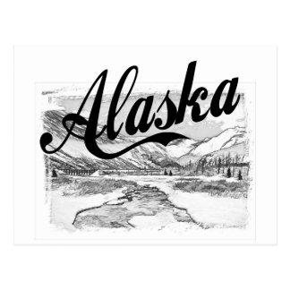 Bosquejo del lápiz de Alaska Tarjetas Postales