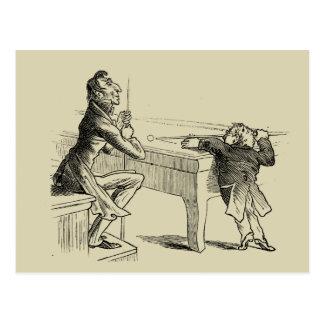 Bosquejo del lápiz de dos hombres que juegan al postales