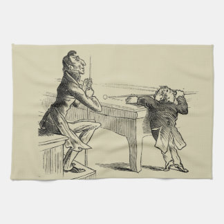 Bosquejo del lápiz de dos hombres que juegan al toallas de cocina