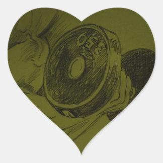 Bosquejo del lápiz de la aptitud del culturismo colcomanias corazon