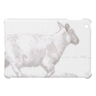 bosquejo del lápiz de las ovejas que camina