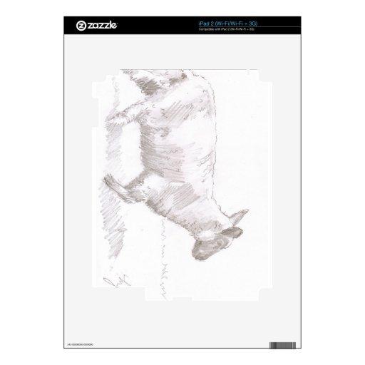 bosquejo del lápiz de las ovejas que camina skins para iPad 2