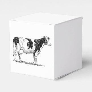 Bosquejo del lápiz del diseño de la vaca caja para regalo de boda