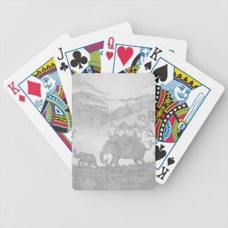 bosquejo del lápiz del elefante cartas de juego