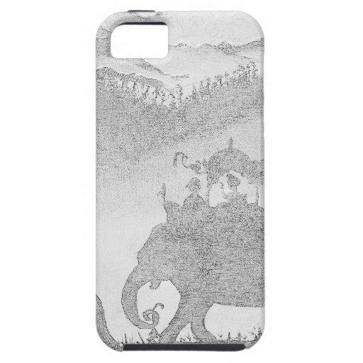 bosquejo del lápiz del elefante iPhone 5 Case-Mate funda