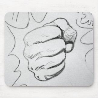 Bosquejo del lápiz del sacador del choque del arte tapete de ratón