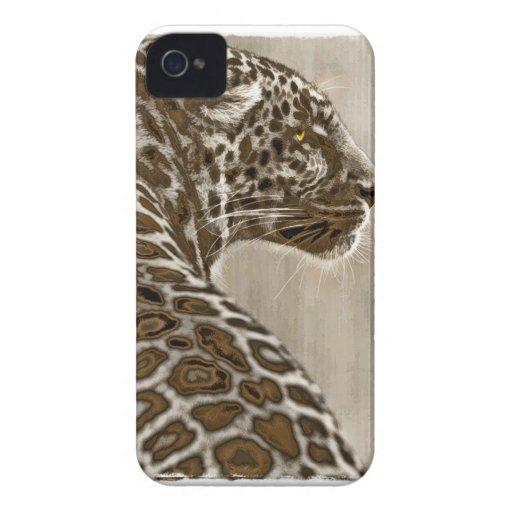 Bosquejo del leopardo de la sepia iPhone 4 Case-Mate protector