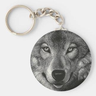 Bosquejo del lobo llaveros