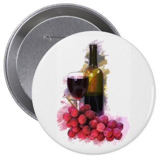 Bosquejo del marcador, copa de vino, botella, uvas pins