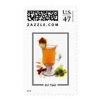 Bosquejo del marcador del cóctel del toddy sello postal