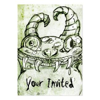 Bosquejo del monstruo del amor tarjetas de visita grandes