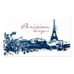 Bosquejo del paisaje urbano de París de la torre E Plantillas De Tarjeta De Negocio