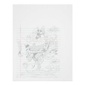 Bosquejo del papel del cuaderno del Doodle de la p Membrete A Diseño