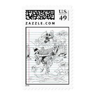 Bosquejo del papel del cuaderno del Doodle de la Franqueo