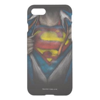 Bosquejo del pecho del superhombre funda para iPhone 7