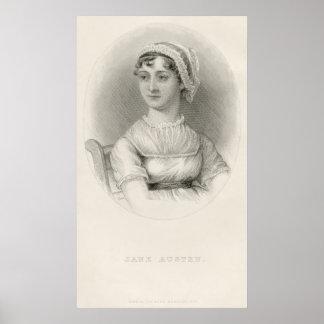 Bosquejo del retrato de Jane Austen de Cassandra A Póster