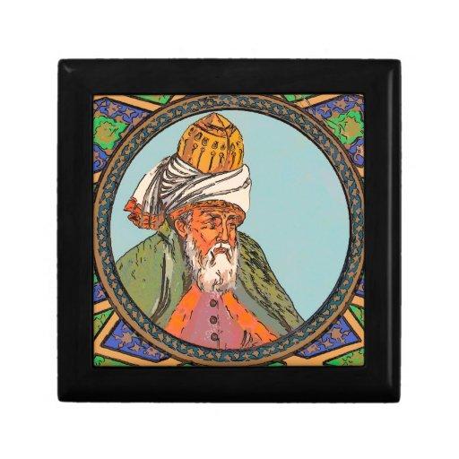 bosquejo del retrato del rumi caja de joyas