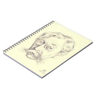 Bosquejo del Rysselberghe-Lápiz de Theo del poeta  Libros De Apuntes Con Espiral