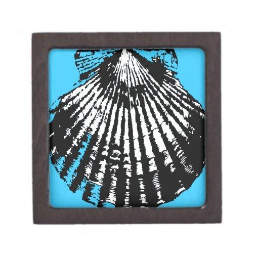 Bosquejo del Seashell Caja De Recuerdo De Calidad